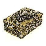 Bellaa 23158 Steampunk Trinket Jewelry Box Mechanical Figurine 5 inch 6