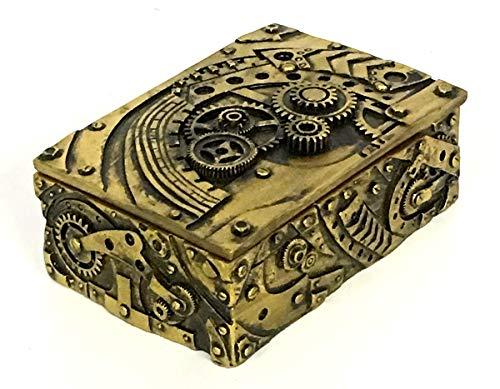 Bellaa 23158 Steampunk Trinket Jewelry Box Mechanical Figurine 5 inch 4