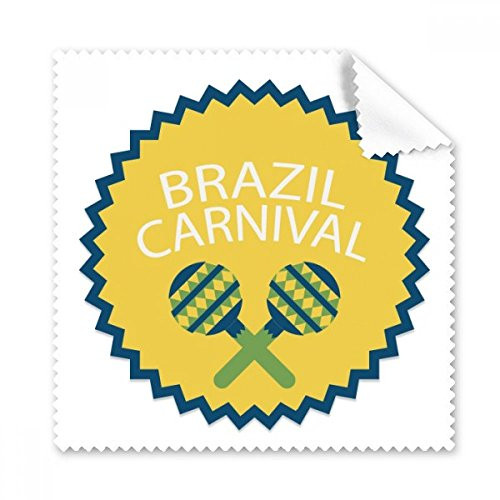Instrument Feiern Brasilien Karneval rund Slogan Brasilien Kulturelle Gläser Tuch Reinigungstuch Geschenk Handy-Display von 5x