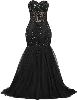 ANTS Women's Sweetheart Beaded 2017 Prom Dress Mermaid Wedding Dresses