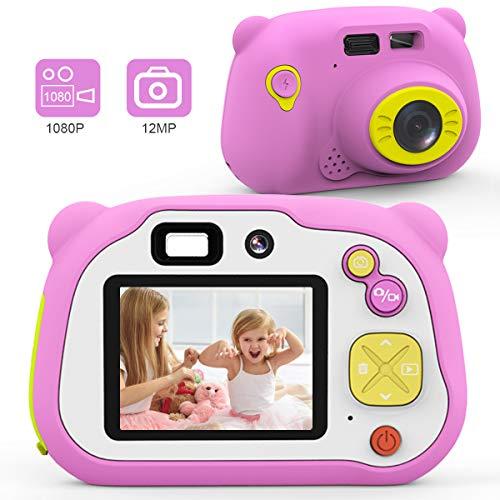 AOKEY Kinder Kamera HD Digitalkamera für Kinder Stoßfest 2 Zoll HD-Bildschirm Kids Camera mit 16 GB Speicherkarte, Geburtstagsgeschenk für Jungen und Mädchen