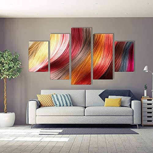 CYKEJISD Wanddekoration Malerei Farbe Perücke Moderne Zeitgenössische Kunstwerk Hd Inkjet Leinwand Wandkunst Für Hauptdekorationen Wanddekor 200x100cm