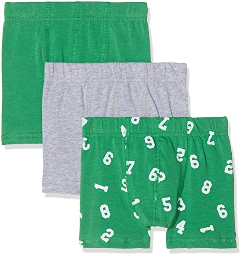 NAME IT Jungen NMMTIGHTS 3P NOOS Boxershorts, Mehrfarbig (Grün Medium Green), 98 (3er Pack)