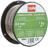 Telwin 802061 Bobina Filo per Saldatura su Acciaio Inossidabile, D. 0.8 mm (1 kg), 0.1 V, Grigio