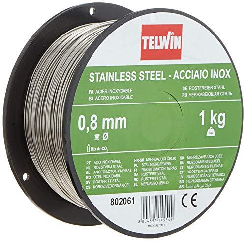Telwin 802061 - Bobina de hilo de alma Ø 0.8 mm, 1 kg, Gris
