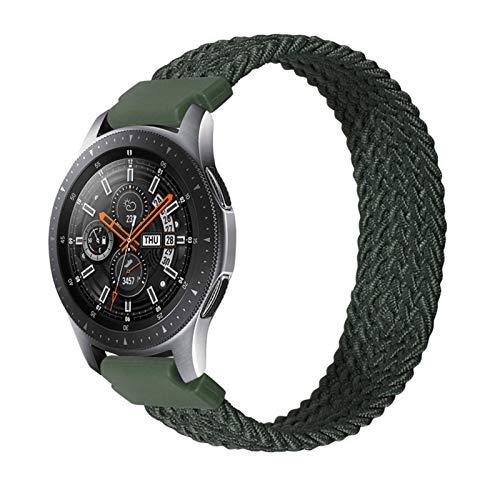 HGGFA 22mm 20mm Sola de la Banda de Reloj de Bucle Solitario para Samsung Galaxy 3 Watch 42 46mm Gear S3 Active2 Classic Lanzamiento rápido Nylon Banda Trenzada