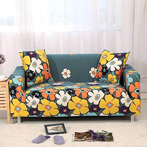 ASCV Funda de sofá Tight Wrap Stretch Funda de sofá Toalla de sofá para Muebles Sillón Sofá seccional Estilo L Fundas A6 Funda de cojín x2