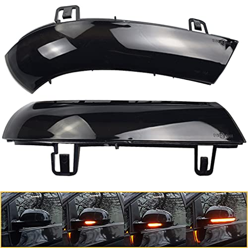Paar Blinkerleuchte Seitenflügel Blinker Dynamische Rückspiegel Indikator Blinkerleuchte für Golf 5 Eos GTI Sharan MK5 Je tta B5.5 B6 R36 R32 mit E-Markierung