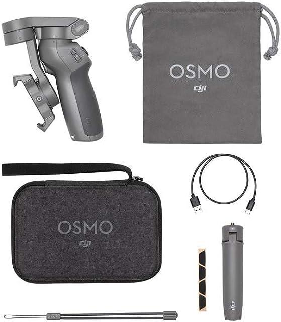 DJI OM3 Combo Estabilizador de 3 Ejes para Smartphone Compatible con iPhone y Smartphone Android diseño Ligero y Portátil grabación Estable Control Inteligente + Trípode Gris