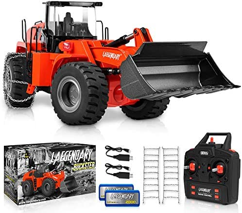 1 14 Scale 22 Channel Full Functional Remote Control Front Loader Construction Tractor Full product image