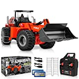 1:14 Scale 22 Channel Full Functional Remote Control Front Loader Construction Tractor, Full Metal Bulldozer Toy Can Dig up to 7Lbs