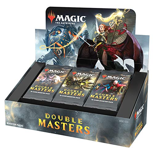 Magic The Gathering Double Masters Zugluft-Booster (24 Packungen) und 2 Box-Aufsätze