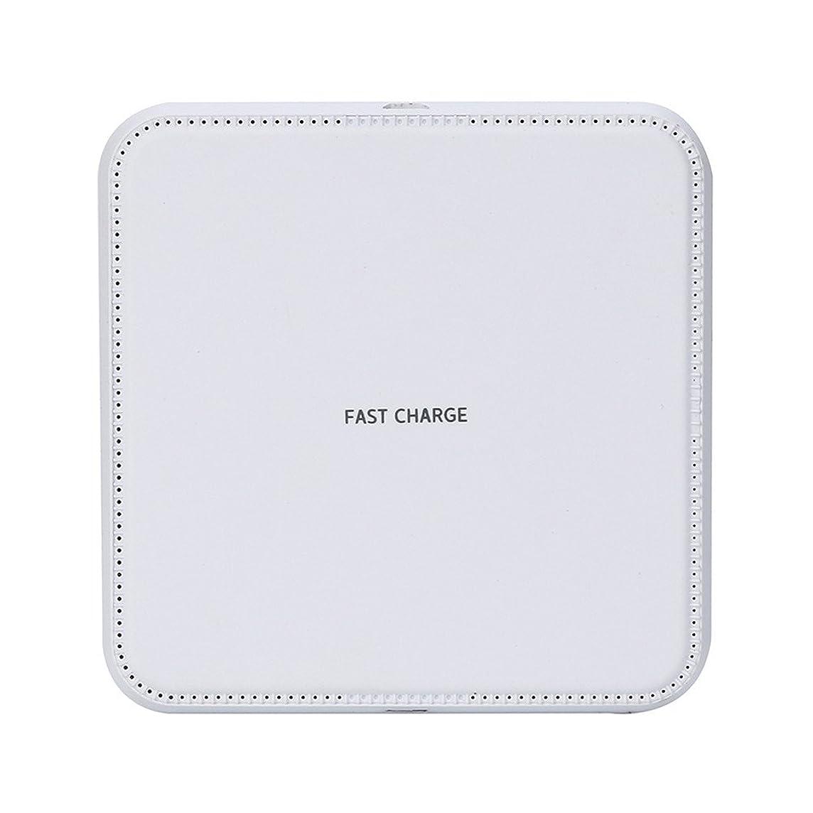 テキスト十億サンダルレンコス(Lemcos) ワイヤレス充電器 Qi 急速充電器 過熱保護 軽量、ポータブル、家庭、オフィス 持ち運び可能 CE/FCC/RoHS認証済み 人間工学 ワイヤレスチャージャー 充電パッドiPhone X/iPhone XS/iPhone XR/iPhone XS Max、Galaxy S9/S9 Plus/Note9/Note8/S8/S8 Plus/S7/S7 Edge/Note 5/S9 Edge PlusなどQI機種対応 Qi認証済み