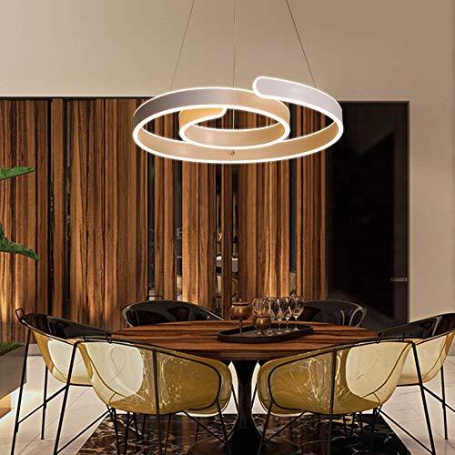 Nordic Home Study Bar Kreative Persönlichkeit moderner minimalistischer LED-Lampen Lucky Circular Ring-Shaped Chandelier Stepless Dimming & Phi; 52cm