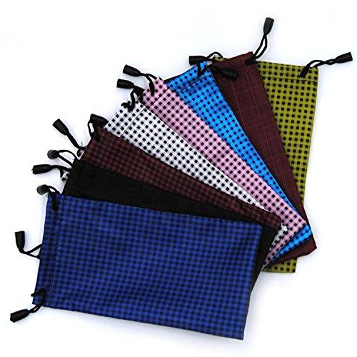 Weimay 10 bolsas de almacenamiento para gafas de sol, gafas de sol, afeitadoras – Bolsa de almacenamiento de microfibra con cordón, color aleatorio