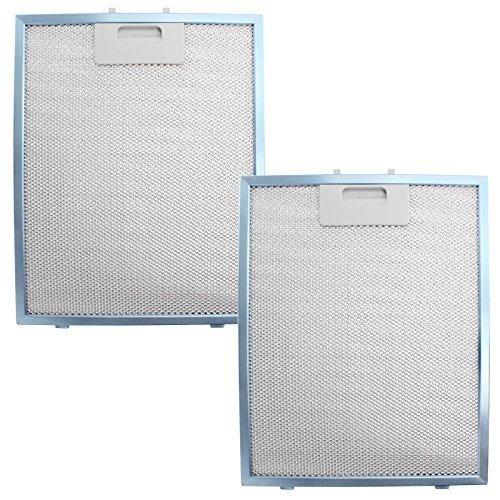 Diplomat ABA2640 metalen rooster afzuigkap filter voor uittrekker ventilatie (2 stuks, blauw, 300 x 240 mm)