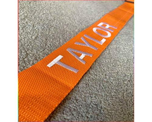 Personalised Luggage Strap Suitcase Embroidered Safe Luggage Belt - Orange