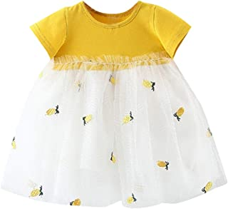 e0f69f245a2d NUWFOR Newborn Kids Baby Girl Striped Tulle Patchwork Tutu Princess Party  Dress