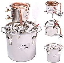 WMN_TRULYSTEP DIY 3 Gal 12 Liters Home Distiller Moonshine Alcohol Still Stainless Boiler Copper Thumper Keg …