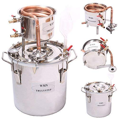WMN_TRULYSTEP Home Distiller, 3 Gallon 12 Liters, Stainless