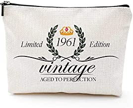 Gifts for Women Turning 60, Funny 60th Birthday Gifts for Women-Makeup Bag-1961 60 Year Old Present Ideas for Mom Aunt Friends Bestie