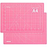 Self Healing Cutting Mat 12'x9' Craft Cutting Mat for Sewing Scrapbooking Quilting Hobby Fabric Precision Arts Crafts Project(Pink)
