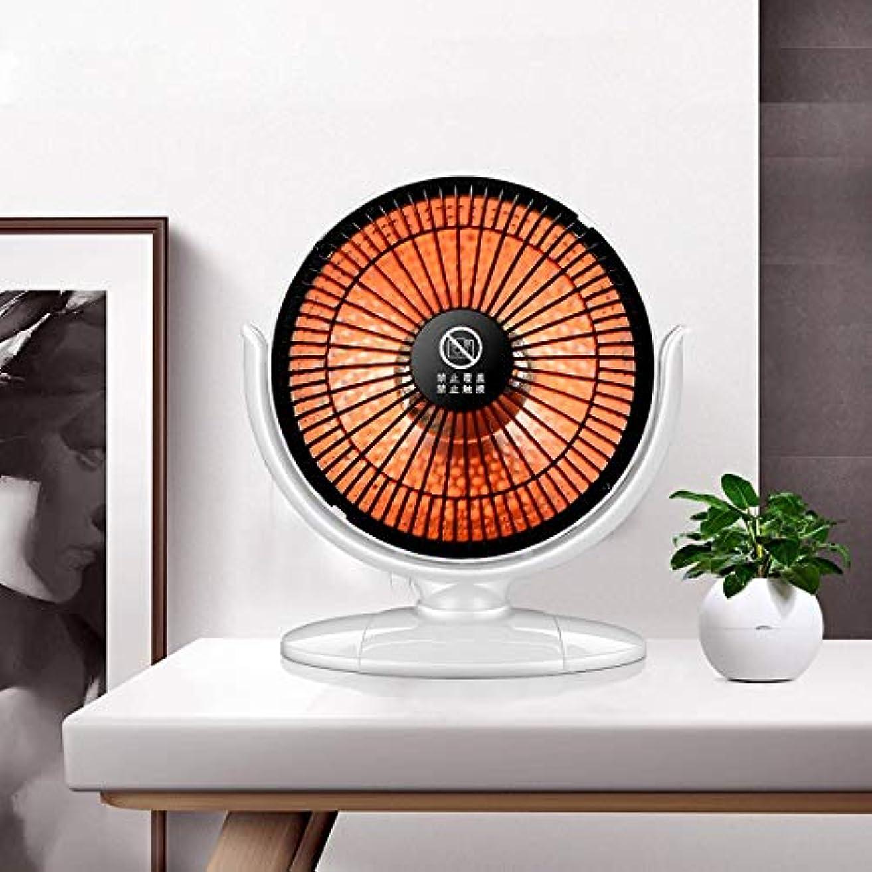 苦公平な減少二色デスクトップ家庭ミニ電気加熱暗い光の学生寮省エネ型オフィスストーブヒーター (Color : White)