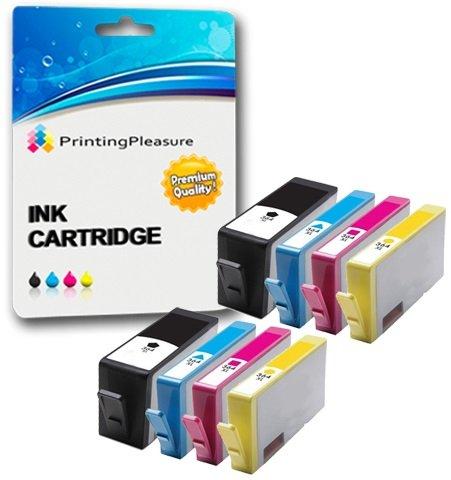 Printing Pleasure 8 Cartuchos de Tinta compatibles para HP Deskjet 3070A 3520 Officejet 4610 4620 Photosmart 5510 5514 5515 5520 6510 6520 B110a Photosmart Plus B209a B210a   Reemplazo para HP 364XL