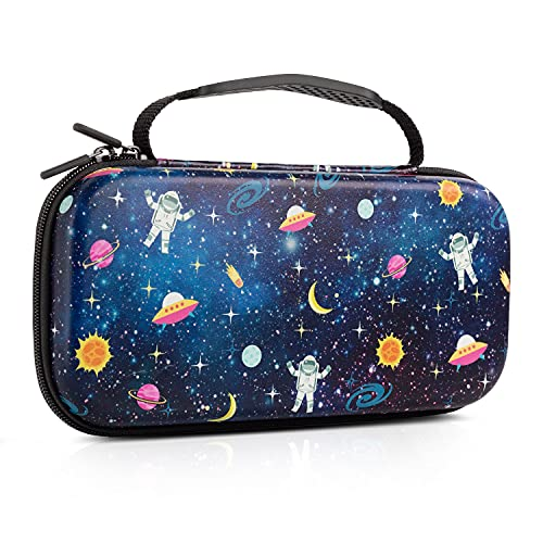 Nintendo Switch Case , Lokigo Space Galaxy Print Carry Case for Nintendo Switch Hard Shell Full Protective Travel Case Cover Bag for Nintendo Switch Console Joy-Con & Accessories 20 Game Card Slots