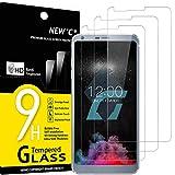 NEW'C 3 Unidades, Protector de Pantalla para LG G6, Antiarañazos, Antihuellas, Sin Burbujas, Dureza 9H, 0.33 mm Ultra Transparente, Vidrio Templado Ultra Resistente