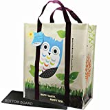 EcoJeannie WTS021 Einkaufstasche / Einkaufstasche, extrastark, laminiert, gewebt, wiederverwendbar, 1, 2, 3, 4, 5 Stück