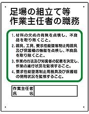 【ユニット】作業主任者職務板 足場の組立等 [品番:356-04A]