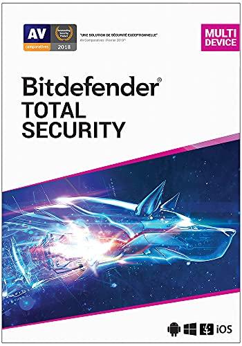 Bitdefender Total Security 2021 | Standard | 10 appareils| 2 Années | PC/Mac |