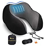 Synaty Travel Memory Foam Travel Neck Pillow Portable Combo with Eye mask&Ear Plug
