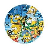 ザ・シンプソンズ 壁掛け時計 おしゃれ デジタル ミュート 円形 掛け時計 置き時計 目覚まし時計 インテリア 装飾