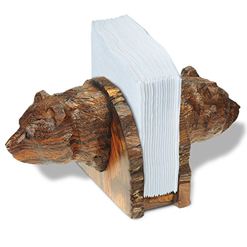 Ironwood Napkin Holder - Bear Head