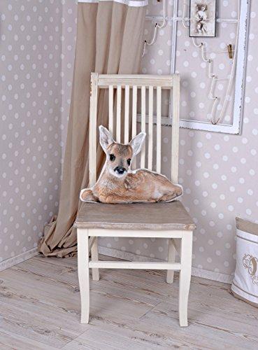 Vintage Stuhl, Esszimmerstuhl, Holzstuhl im Landhausstil Shabby chic HMB09 Palazzo Exklusiv
