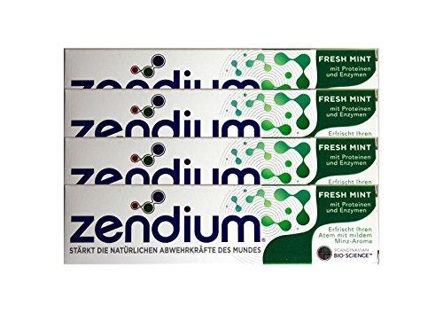 4x Zendium Fresh Mint mit Proteinen & Enzymen 75ml Zahnpasta NEU