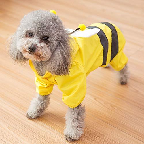 Rirui regenjas voor honden, kleine bijen, dubbele streng, middelgrote honden en kleine afmetingen, waterdicht met vier voeten, comfortabel en ademend