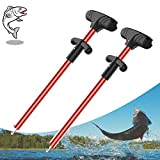 Fish Hook Remover, Easy Reach and Portable Aluminum Fish Hook Remover Tool, Pro Fishing Hooks Extractor, Squeeze-Out Fish Hook Separator Tools 4 Colors Available , Fast Decoupling, No Injury (Red)