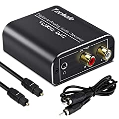 【Updated DAC Converter】Ideal DAC converter converts coaxial or slink digital audio signals to analog L/R RCA and 3.5mm Jack audio simultaneously (not capable of being reversed). Can be used with PS3, Xbox, Blu Ray Players, HD DVD, Home Cinema Systems...