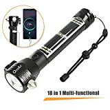 Otdair: LED Solar Power Tactical Flashlight