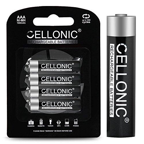 CELLONIC subtel® Qualitäts Akku kompatibel mit Telekom Sinus CA37 / A207 / 207 / A206 / 301 / A406 / 205 / A503i / A806 / Speedphone 10/11 / 12/30 / 31/51, 4x1000mAh Ersatzakku Batterie