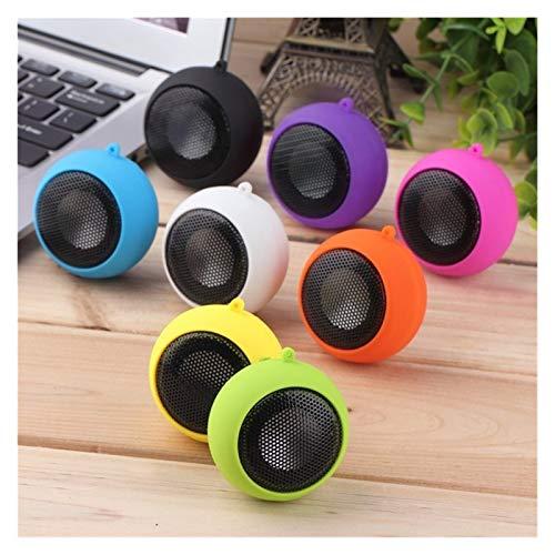 YTG Art und Weise netten Minilautsprecher-MP3-Musik-Lautsprecher-Player Außen 3.5mm beweglicher Wired Lautsprecher Sound-Box Computer-Telefone (Color : Purple)