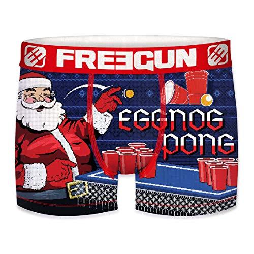 Freegun - Calzoncillos para niños, colección de Navidad Eggnog Pong 6-8 Años