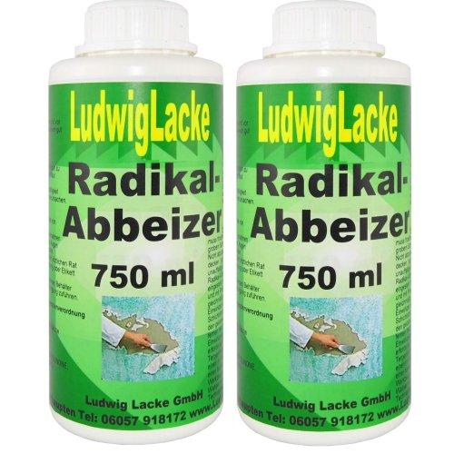 Abbeizer 2 x 750 ml Radikal Abbeizmittel