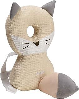 Bebamour Baby Head Schutzpolster Atmungsaktive Köpfe Stützkissen für Kleinkinder Verstellbare Kopfstützen Rückenschutzkissen(Beiger Fuchs)
