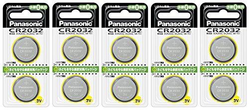 パナソニック リチウム電池 コイン型 3V 2個入 CR-2032/2P (5個セット)