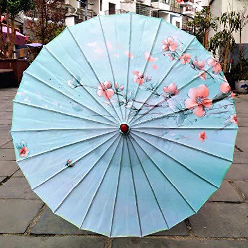 Yukie - Ombrello da pioggia da donna cinese fengshui in seta danza giapponese poney decorativo in bambù ombrello di carta olio ombrellone ombrellone Lanse
