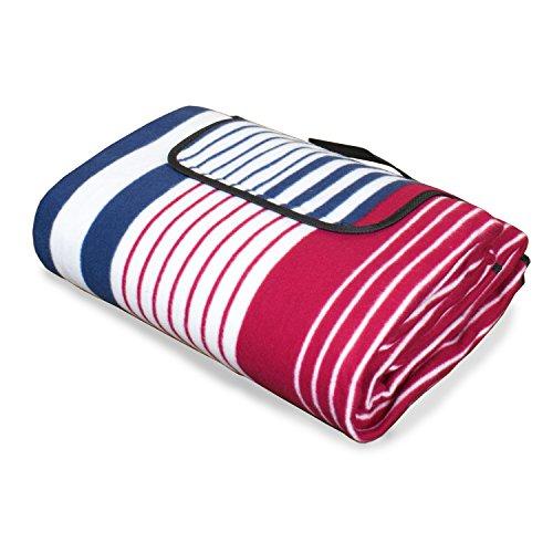Tischdeckenshop24 Picknickdecke LAGOS XXL/200x200 cm groß/isoliert/faltbare Strandmatte mit Tragegriff